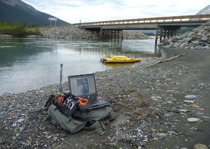SurvBase Z-Boat and onshore remote control setup